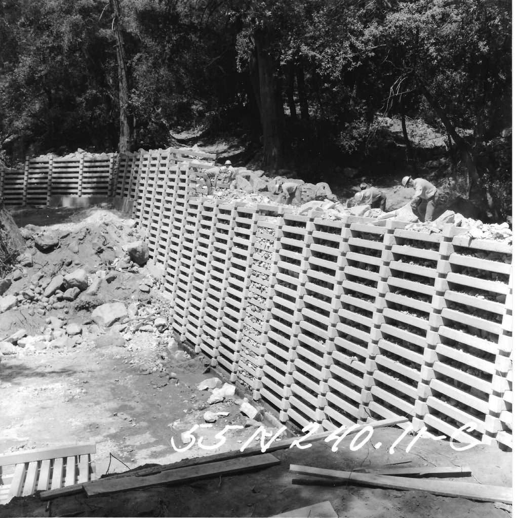 Chantry Flats Check Dams During The Construction Years